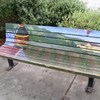 West 3rd Street Art Bench