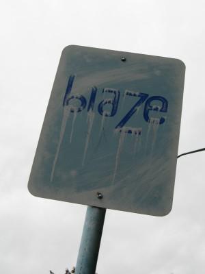 Blaze Art Sign