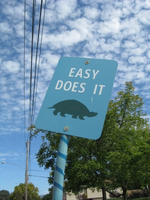 Easy Does It Art Sign