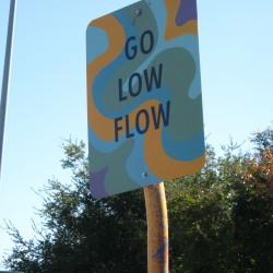 Go Low Flow Art Sign