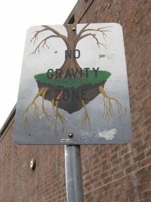 No Gravity Zone Art Sign