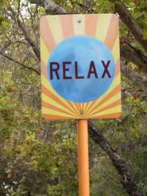 Relax Art Sign