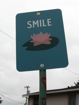 Smile Art Sign