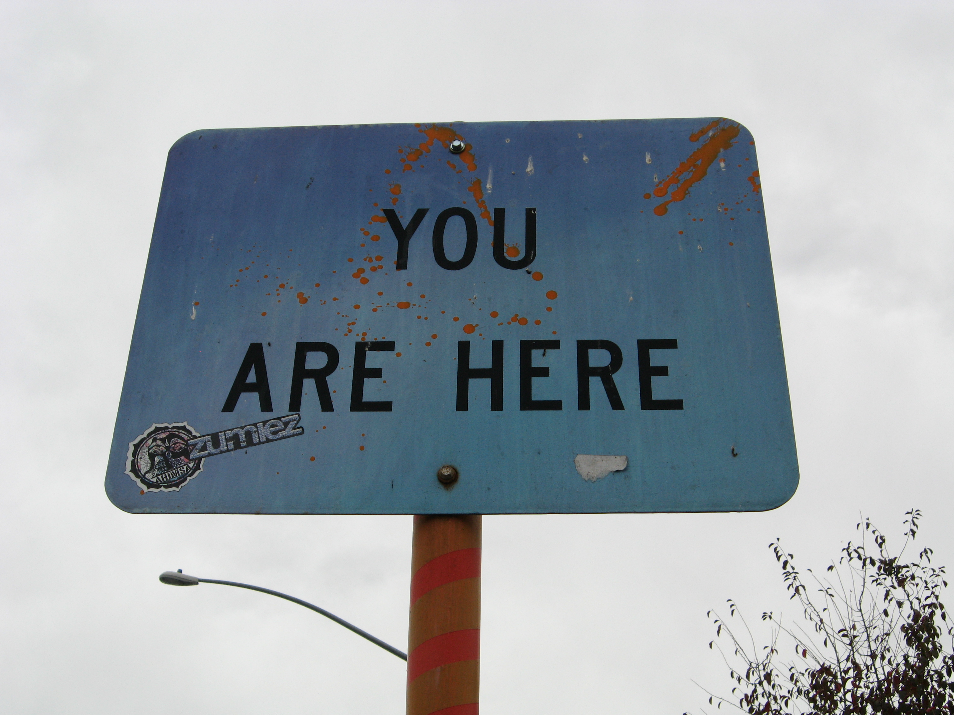 You Are Here Art Sign